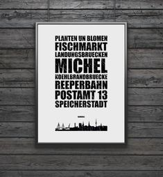 Poster Hamburg Skyline Kunstdruck/Wandbild von FineArtsCrafts auf DaWanda.com