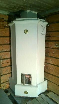 Tiilestä muurattu takka uuni Home Decor, Decor, Home, Fireplace