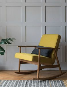Jozef Chierowski 366 Rocking Chair Denim   Six Colours Available | Rocking  Chairs, Foam Cushions And Woods