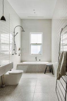 est living australian interiors cjh design rosebery home 1 Bathroom Bath, Family Bathroom, Laundry In Bathroom, Bathroom Renos, Bathroom Inspo, Bath Shower, Bathroom Styling, Modern Bathroom, Small Bathroom