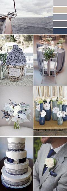 grey wedding color ideas for 2017 trends