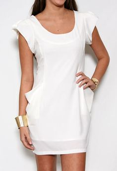 Cap Sleeve Oversized Pocket Dress More Colors Available