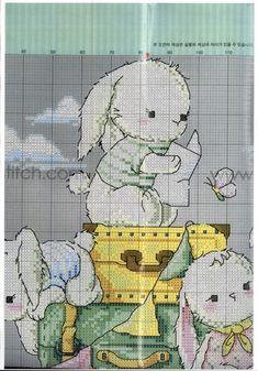 Cute Cross Stitch, Cross Stitch Patterns, Stitch Doll, Bear Cartoon, I Am Awesome, Ideas Para, Charts, Kids, Animals