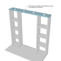 Ana White   Build a Vanity Hutch with Recessed Lights   Free and Easy DIY Project and Furniture Plans