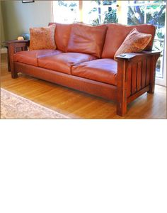 Caledonia Studios:Drop Arm Settle With Loose Cushions. Find This Pin And  More On Craftsman Style Sofas ...