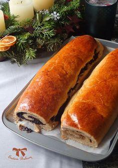 Orechovník a makovník z ražného kvásku - Sisters Bakery Home Baking, Fermented Foods, Hot Dog Buns, Bakery, Food And Drink, Bread, Cooking, Basket, Kitchen