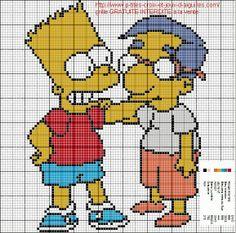 The Simpsons pattern by grilles point de croix et cie