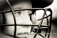 Senior pictures - I like this for any Senior who has a sport with a mask (Catcher-Football)