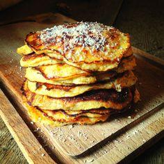 Pannenkoeken als ontbijt, of gewoon als dessert ook heel lekker! Coffee Time, Tea Time, Paleo Sweets, Food Inspiration, Pancakes, Favorite Recipes, Lunch, Breakfast, Healthy