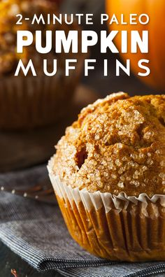 Gluten-Free Paleo Pumpkin Microwave Muffins- 1 egg - cup pumpkin puree - 3 tablespoon ground flaxseed meal - 1 teaspoon honey - 1 teaspoon coconut oil - teaspoon pumpkin pie spice (dash each of cinnamon, nutmeg, ginger, cloves) Paleo Sweets, Low Carb Desserts, Gluten Free Desserts, Healthy Desserts, Low Carb Recipes, Whole Food Recipes, Cooking Recipes, Dessert Sans Gluten, Paleo Dessert