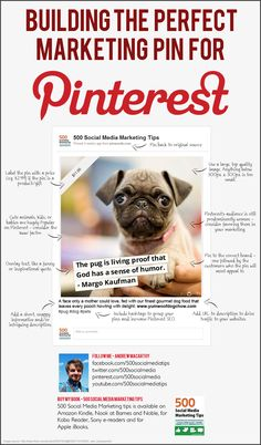 Creating Perfect Marketing Pins For Pinterest #SocialMedia #infographic
