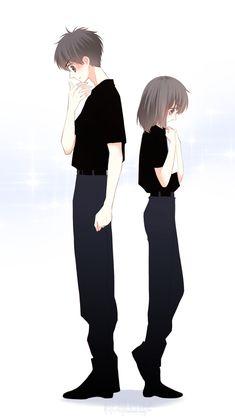 Love Never Fails Manga Anime Couples Drawings, Anime Couples Manga, Cute Anime Couples, Cute Chibi Couple, Cute Couple Art, Manga Couple, Anime Love Couple, Chica Anime Manga, Kawaii Anime