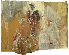 """Saatchi Art Artist Ute Rathmann; Collage, """"Hommage à Klimt XX"""" #art"""