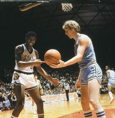 Magic Johnson and Larry Bird in National championship Michigan State vs Indiana State. The game that made College Ball what it is today