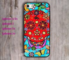Sugar Skull iPhone 5 CaseColorful Floral Skull by charmcover, $7.99