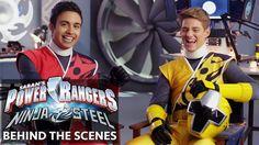 Power Rangers Ninja Steel   Meet the Cast: Red and Yellow Dance Buddies