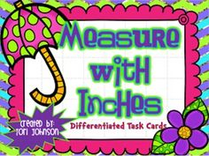 This product is just what you need if you are looking for Task Cards on Measuring with an Inch Ruler! These cards are great to use for a Scoot game, small group instruction, Math stations, or for Kagan structures such as Show Down or Fan and Pick. The product includes 24 differentiated task cards: 12 cards without multiple choice and 12 cards with multiple choice.