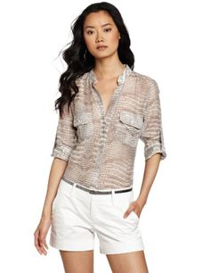 BCBGMAXAZRIA Women's Demeter Cargo Pocket Top