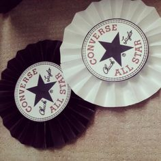 Converse Baby Shower. Paper Fans. DIY Baby Boy.