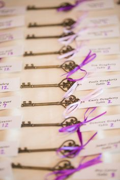 Antique Key Escort Cards | Photo By Kaitlin Noel Photography