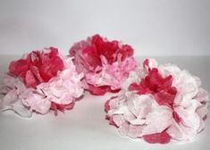 Kvety zo servitiek a krepového papiera 1