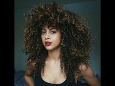 My Big Curly Hair Routine - YouTube