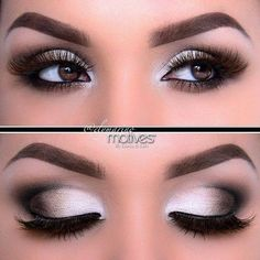 Zilver smokey eyes