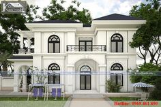 Home Decoration Online Stores Modern Exterior House Designs, Classic House Exterior, Classic House Design, Dream House Exterior, Modern House Design, 2 Storey House Design, Bungalow House Design, House Front Design, Beautiful House Plans