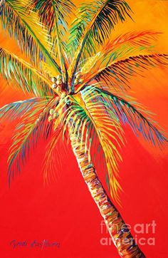 Ideas for palm tree painting acrylic artists Palm Tree Drawing, Palm Tree Art, Palm Trees, Palm Tree Paintings, Tropical Art, Pictures To Paint, Painting Pictures, Beach Art, Oeuvre D'art
