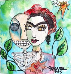 Frida and Sol the original has sold For prints: http://fineartamerica.com/featured/frida-and-sol-laurie-maves.html