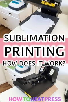 What Is Sublimation Printing? How To Get Started Today Sublimation Printing: How Does it Work? Cricut Iron On Vinyl, Für Dummies, Tshirt Business, Business Tips, Cricut Tutorials, Cricut Ideas, Sublime Shirt, Cricut Craft Room, Vinyl Projects