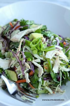 Crunchy Thai Chicken Salad #laurenslatest #thaichicken #salad