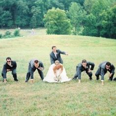 Football and weddings.  Bridal party photo ideas  College football on your wedding day