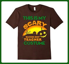 Mens This is my Scary Machine Shop Teacher costume t-shirt Medium Brown - Careers professions shirts (*Amazon Partner-Link)