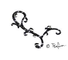 Jet ballroom hair accessory. Ballroom jewelry and accessories at www.tzafora.com  © 2014 Tzafora