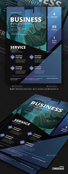 Business Conference Flyer Templates #Conference, #Business, #Templates, #Flyer