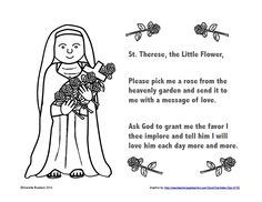 Free St. Therese Color and Pray Printable #ClassroomFreebies