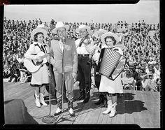 Gene Autry on stage