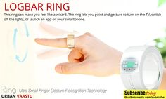 Logbar Ring : lets you point and gesture to turn on the TV, switch off the lights, or launch an app on your smartphone