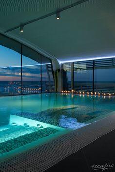 Spa im Hotel Excelsior Pesaro. Marken, Italien