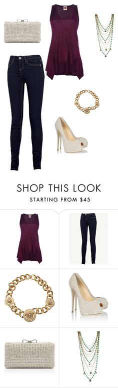 """""""Sin título #66"""" by carla-lc ❤ liked on Polyvore featuring I'm Isola Marras, Fat Face, Versace, Giuseppe Zanotti, Forever New and Bee Charming"""