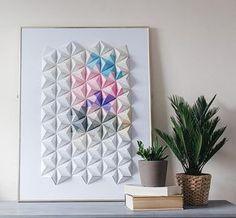Cuadro con origami