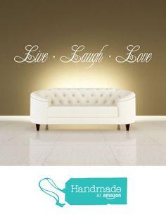 Live Laugh Love Quote, Vinyl Wall Art Sticker, Mural, Decal. Home, Wall Decor, Living room, Hallway, Bedroom, Dining Room from Fabulous Wall Art Stickers https://www.amazon.co.uk/dp/B01M9A7YPZ/ref=hnd_sw_r_pi_dp_OVX.xb5VDHM6Z #handmadeatamazon
