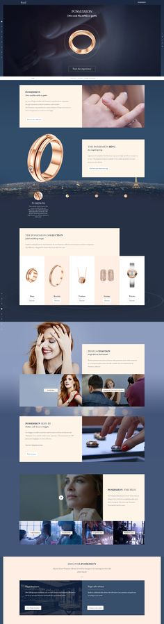 Digital experience for an icon of Piaget jewelry, the Possession ring cultivates its uniqueness through a harmonious blend of aesthetics and sensualit Web Layout, Layout Design, Jewelry Website, Ui Web, Site Design, Interactive Design, Web Design Inspiration, Internet, Piaget Jewelry