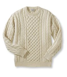 LLBean Mens Fishermans Sweater