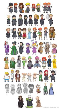 Harry Potter - Characters by A-A-Fresca