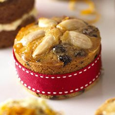 Mini Dundee Cakes. Dundee cake is my dad's favourite, must make these miniatures for him!