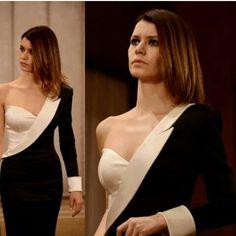 A unique black & white dress ♡