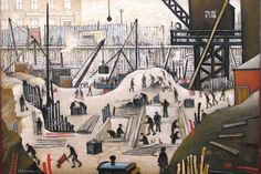 Brian Aldiss, Lowry and the Painting of Modern Life - L. Lowry, Excavating in Manchester, 1932 Salford, English Artists, British Artists, Famous Artists, Tate Britain, Spencer, Battle Of Britain, Naive Art, Office Art