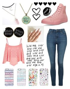 """""""Random #252"""" by maddyisaunicorn ❤ liked on Polyvore featuring Casetify, Converse and Topshop"""